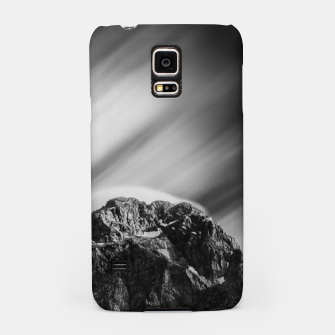 Miniatur Clouds rolling above mountain Mangart Samsung Case, Live Heroes