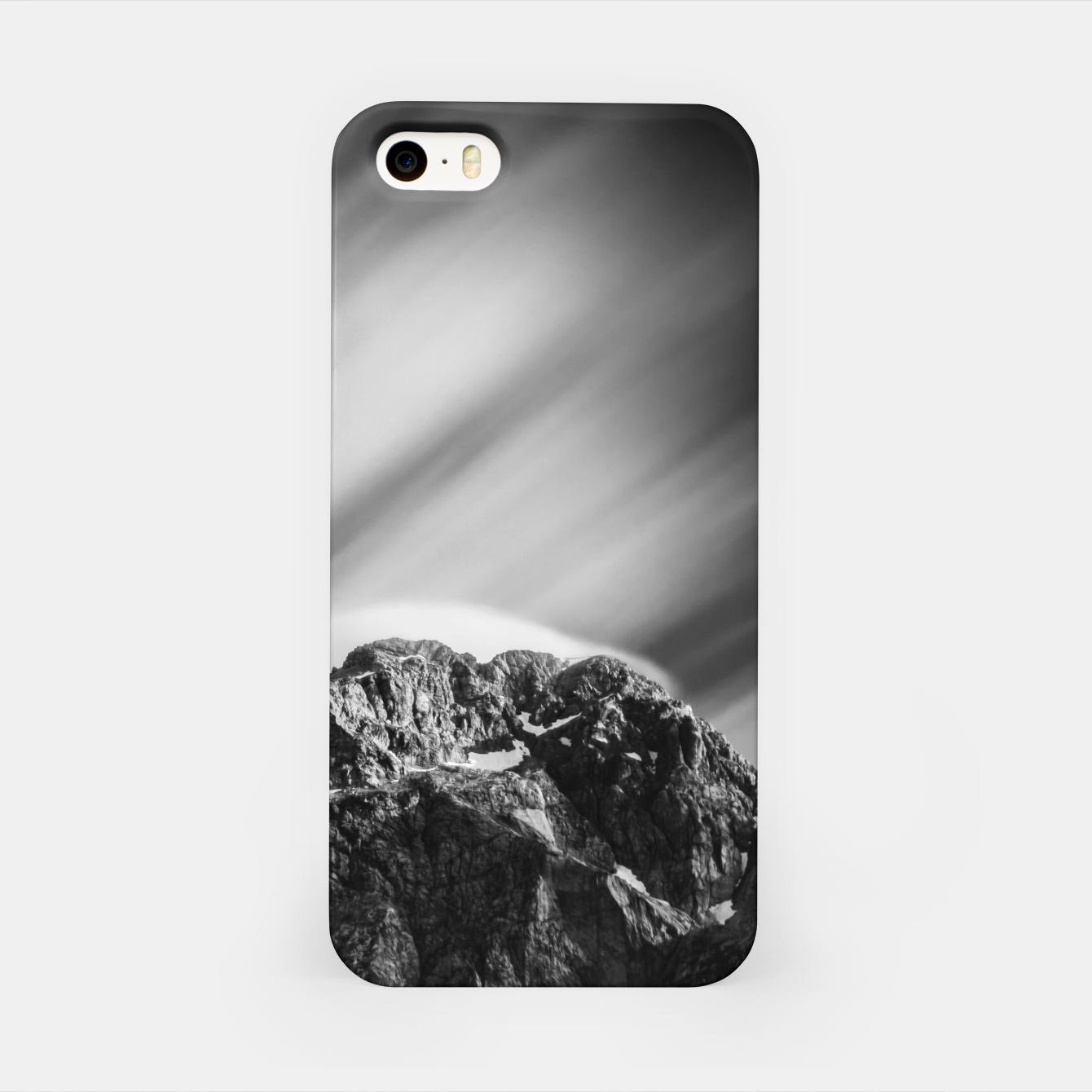 Image of Clouds rolling above mountain Mangart iPhone Case - Live Heroes