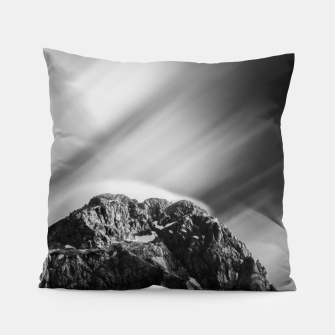 Miniatur Clouds rolling above mountain Mangart Pillow, Live Heroes