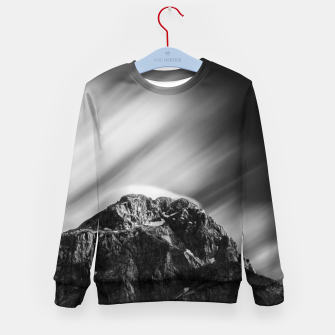 Miniatur Clouds rolling above mountain Mangart Kid's sweater, Live Heroes