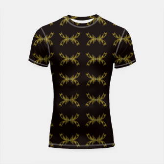 Thumbnail image of Golden ties Shortsleeve rashguard, Live Heroes
