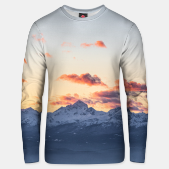 Imagen en miniatura de Bright orange clouds above Triglav, Slovenia Unisex sweater, Live Heroes
