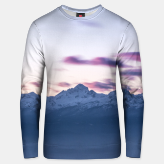 Thumbnail image of Misty clouds above mountain Triglav, Slovenia Unisex sweater, Live Heroes