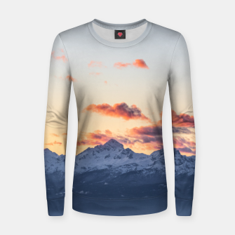 Imagen en miniatura de Bright orange clouds above Triglav, Slovenia Women sweater, Live Heroes