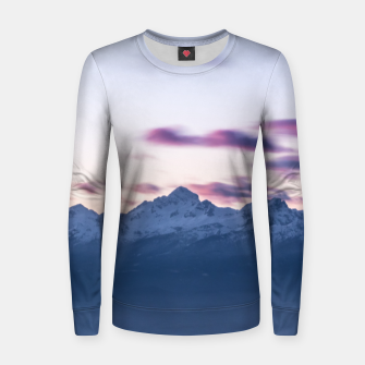 Thumbnail image of Misty clouds above mountain Triglav, Slovenia Women sweater, Live Heroes