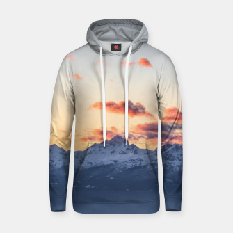 Imagen en miniatura de Bright orange clouds above Triglav, Slovenia Hoodie, Live Heroes