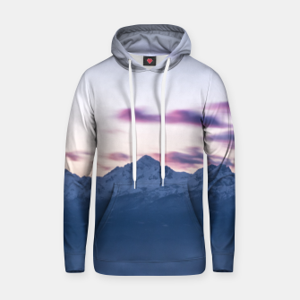 Thumbnail image of Misty clouds above mountain Triglav, Slovenia Hoodie, Live Heroes