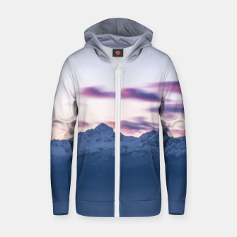 Thumbnail image of Misty clouds above mountain Triglav, Slovenia Zip up hoodie, Live Heroes