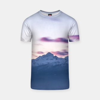 Thumbnail image of Misty clouds above mountain Triglav, Slovenia T-shirt, Live Heroes