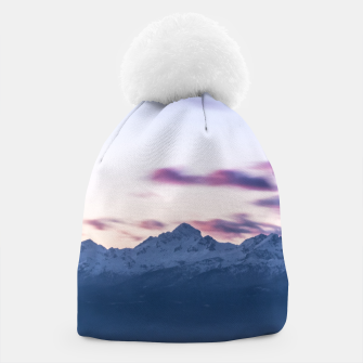 Thumbnail image of Misty clouds above mountain Triglav, Slovenia Beanie, Live Heroes
