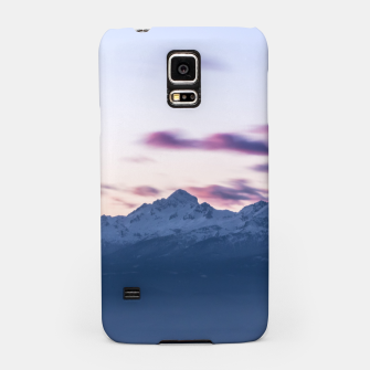 Miniature de image de Misty clouds above mountain Triglav, Slovenia Samsung Case, Live Heroes