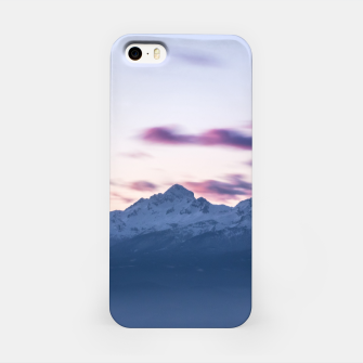 Miniature de image de Misty clouds above mountain Triglav, Slovenia iPhone Case, Live Heroes