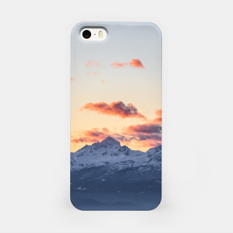Imagen en miniatura de Bright orange clouds above Triglav, Slovenia iPhone Case, Live Heroes