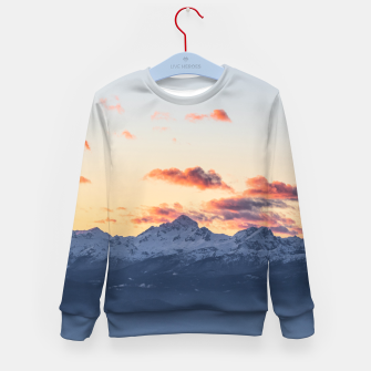 Imagen en miniatura de Bright orange clouds above Triglav, Slovenia Kid's sweater, Live Heroes