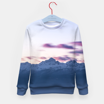 Thumbnail image of Misty clouds above mountain Triglav, Slovenia Kid's sweater, Live Heroes