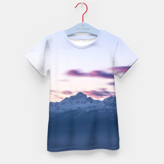 Thumbnail image of Misty clouds above mountain Triglav, Slovenia Kid's t-shirt, Live Heroes