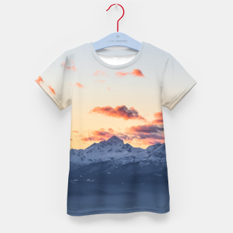 Imagen en miniatura de Bright orange clouds above Triglav, Slovenia Kid's t-shirt, Live Heroes