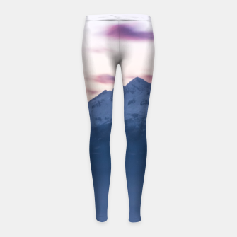 Thumbnail image of Misty clouds above mountain Triglav, Slovenia Girl's leggings, Live Heroes