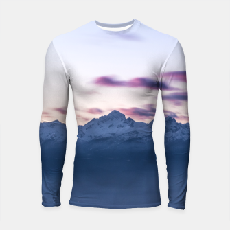 Thumbnail image of Misty clouds above mountain Triglav, Slovenia Longsleeve rashguard , Live Heroes
