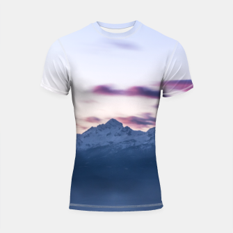 Thumbnail image of Misty clouds above mountain Triglav, Slovenia Shortsleeve rashguard, Live Heroes