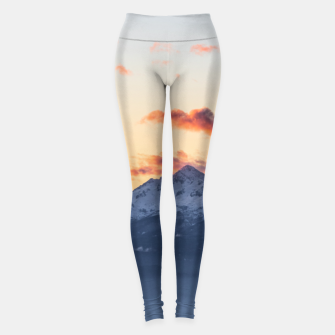 Imagen en miniatura de Bright orange clouds above Triglav, Slovenia Leggings, Live Heroes