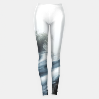 Thumbnail image of Cascade waterfall on foggy mystical morning Leggings, Live Heroes