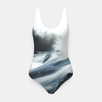 Thumbnail image of Cascade waterfall on foggy mystical morning Swimsuit, Live Heroes
