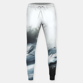 Thumbnail image of Cascade waterfall on foggy mystical morning Sweatpants, Live Heroes