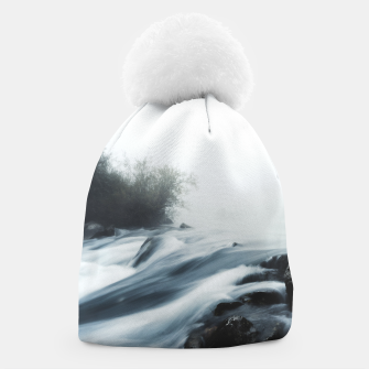 Thumbnail image of Cascade waterfall on foggy mystical morning Beanie, Live Heroes