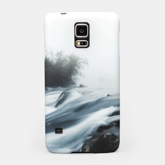 Thumbnail image of Cascade waterfall on foggy mystical morning Samsung Case, Live Heroes