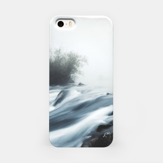 Thumbnail image of Cascade waterfall on foggy mystical morning iPhone Case, Live Heroes