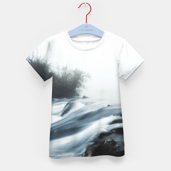 Thumbnail image of Cascade waterfall on foggy mystical morning Kid's t-shirt, Live Heroes