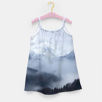Thumbnail image of Mysterious fog rolling through layers of hills and mountains Girl's dress, Live Heroes
