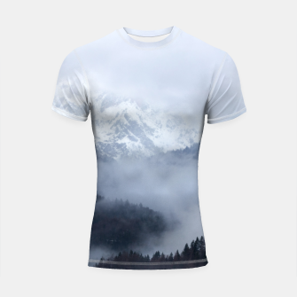 Thumbnail image of Mysterious fog rolling through layers of hills and mountains Shortsleeve rashguard, Live Heroes
