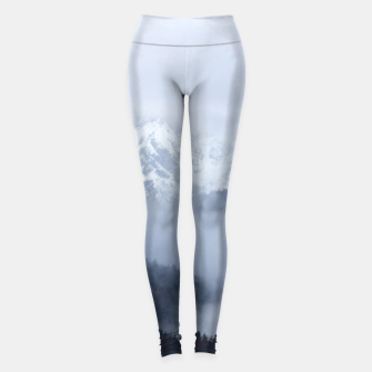 Miniatur Mysterious fog rolling through layers of hills and mountains Leggings, Live Heroes