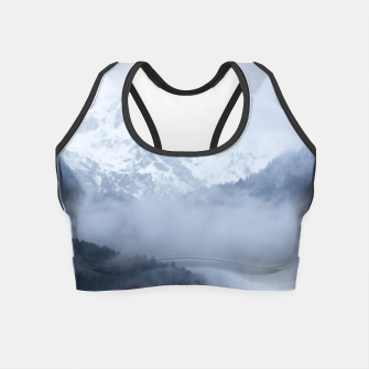 Miniatur Mysterious fog rolling through layers of hills and mountains Crop Top, Live Heroes