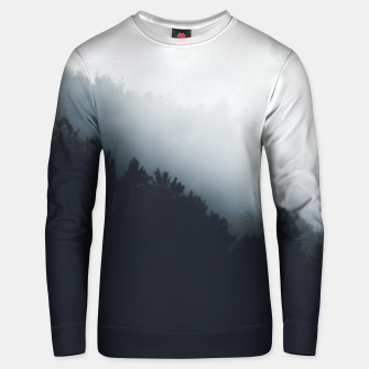 Thumbnail image of Fog over forest diagonal layers Unisex sweater, Live Heroes