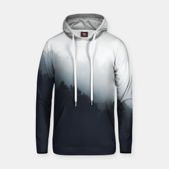 Thumbnail image of Fog over forest diagonal layers Hoodie, Live Heroes