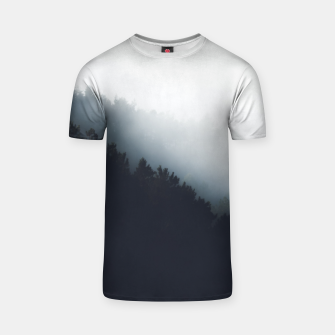 Thumbnail image of Fog over forest diagonal layers T-shirt, Live Heroes