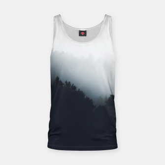 Thumbnail image of Fog over forest diagonal layers Tank Top, Live Heroes
