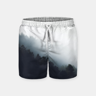 Miniatur Fog over forest diagonal layers Swim Shorts, Live Heroes