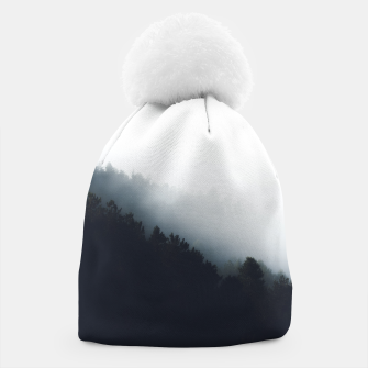 Miniatur Fog over forest diagonal layers Beanie, Live Heroes