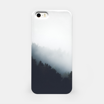 Miniatur Fog over forest diagonal layers iPhone Case, Live Heroes