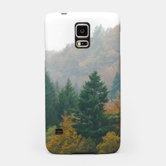 Miniatur Foggy autumn forest layers disappearing in fog Samsung Case, Live Heroes