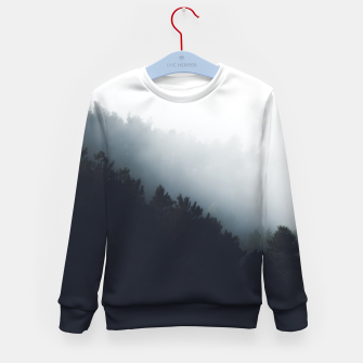 Miniatur Fog over forest diagonal layers Kid's sweater, Live Heroes