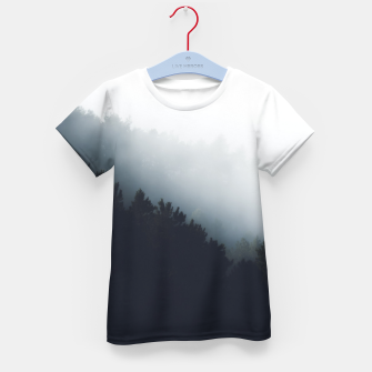 Miniatur Fog over forest diagonal layers Kid's t-shirt, Live Heroes