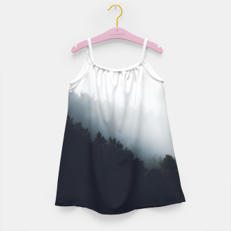 Miniatur Fog over forest diagonal layers Girl's dress, Live Heroes