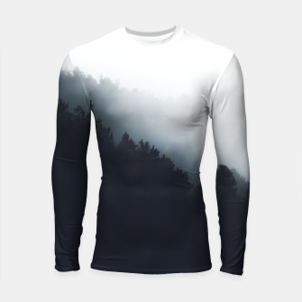 Thumbnail image of Fog over forest diagonal layers Longsleeve rashguard , Live Heroes