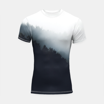 Miniatur Fog over forest diagonal layers Shortsleeve rashguard, Live Heroes