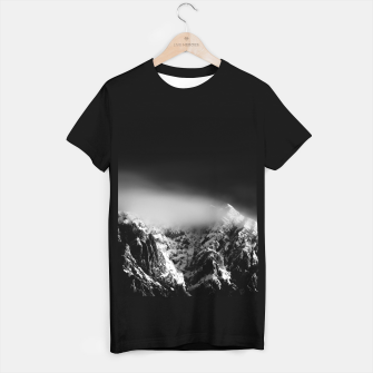 Miniature de image de Black and white long exposure of clouds above mountain T-shirt regular, Live Heroes